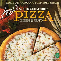 Amy's Cheese and Pesto with Whole Wheat Crust
