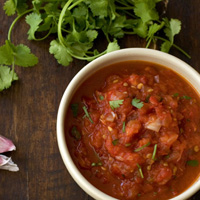 Hot n' Smoky Salsa with Roasted Peppers